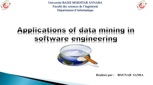 Data Mining in Software Engineering