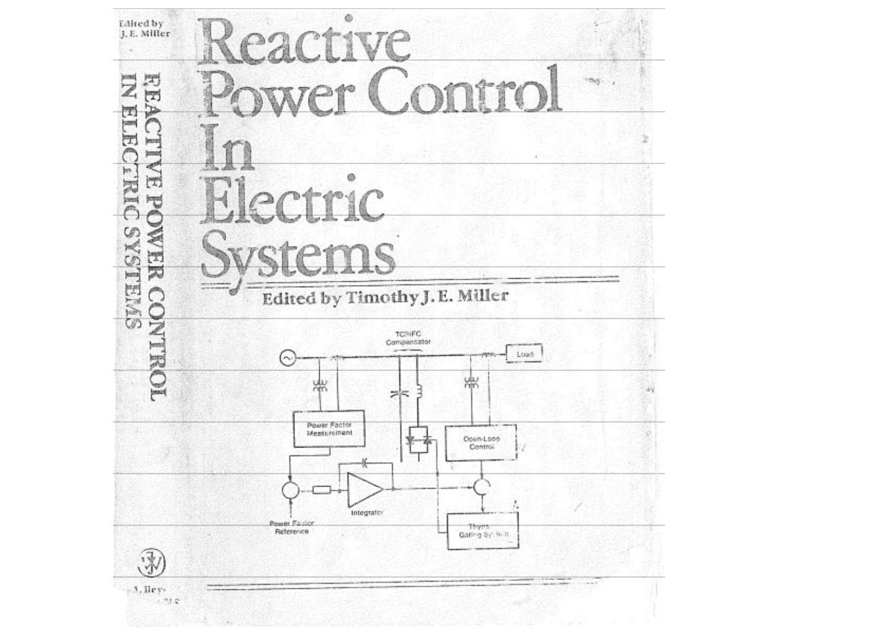 T J E Miller Reactive Power Control 1 1947 John Wiley Sons Inc