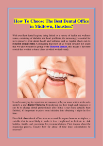 How To Choose The Best Dental Office in Midtown, Houston