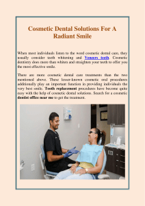 Cosmetic Dental Solutions For A Radiant Smile