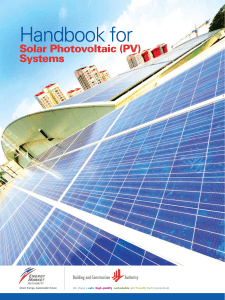 Handbook for Solar Photovoltaic (PV) Systems