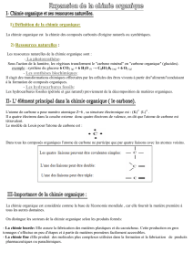 Expansion de la chimie organique