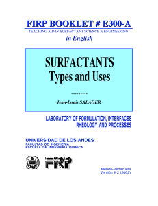 Surfactants Types and Uses