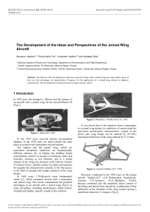 Development of the Ideas and Perspectives on Joined Wing Aircraf - 2018