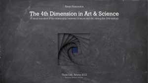 Alexis karpouzos :The 4th Dimension in Art and Science