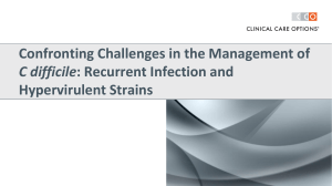 CCO Managing Recurrent and Hypervirulent CDI
