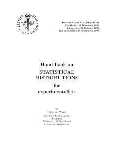 Statistical Distributions Handbook