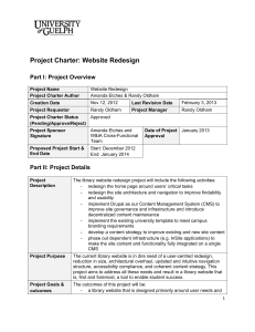 2.2 Project charter Website Design exemple