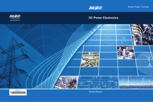 DC Power Electronics Student Manual 86356 00