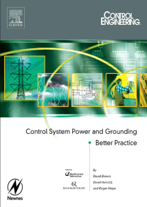 CONTROL SYSTEM POWER AND GROUNDING