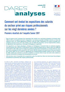 DARES analyses evolution expositions professionnelles salaries sumer 2017