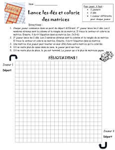 jeu dés-multiplications+cases à colorier