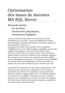 Optimisation Bases De Donnees Microsoft SQL server 2