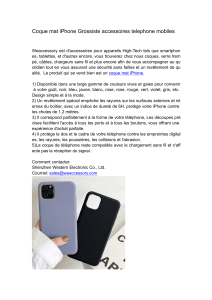 Coque mat iPhone Grossiste accessoires telephone mobiles