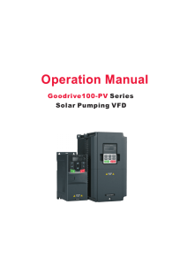 GD100-PV Series Solar Pumping VFD Manual