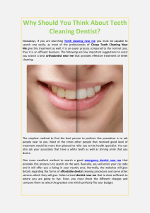 Why Should You Think About Teeth Cleaning Dentist