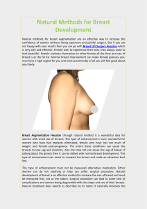 Natural Methods for Breast Development