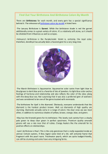 Find Out Your Birthstone And Birthstone Colors By Month
