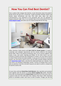 How You Can Find Best Dentist