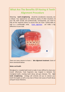 What Are The Benefits Of Having A Teeth Alignment Procedure