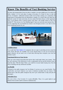 Know The Benefits of Taxi Booking Service