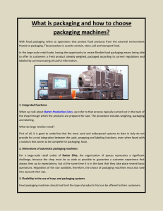 What is packaging and how to choose packaging machines