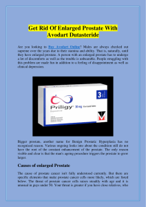Get Rid Of Enlarged Prostate With Avodart Dutasteride