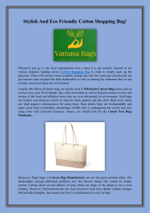 Stylish And Eco Friendly Cotton Shopping Bag-converted