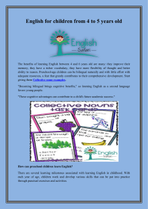 English for children from 4 to 6 years old