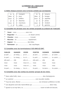 verbes de premier groupe. exercises