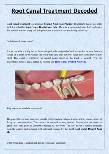 Root Canal Treatment Decoded