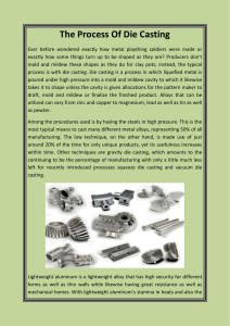 The Process Of Die Casting