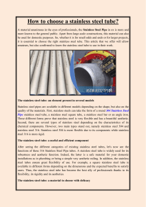 How to choose a stainless steel tube