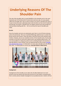 Underlying Reasons Of The Shoulder Pain