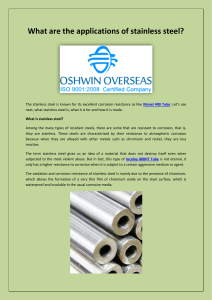 What are the applications of stainless steel-converted