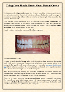 Things You Should Know About Dental Crown
