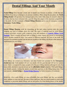 Dental Fillings And Your Mouth