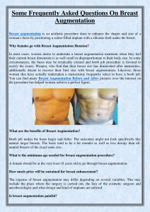 Some Frequently Asked Questions On Breast Augmentation