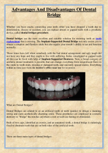 Advantages And Disadvantages Of Dental Bridge