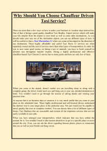 Why Should You Choose Chauffeur Driven Taxi Service (1)