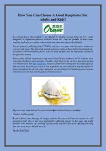 How You Can Choose A Good Respirator For Adults and Kids (2)