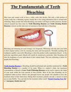 The Fundamentals of Teeth Bleaching