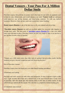Dental Veneers - Your Pass For A Million Dollar Smile