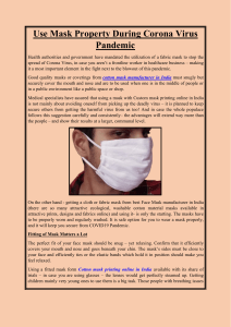 Use Mask Property During Corona Virus Pandemic
