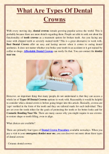 What Are Types Of Dental Crowns