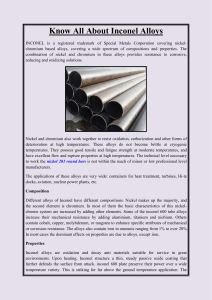 Know all about inconel alloys