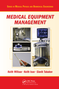 9 [Keith Willson, Keith Ison, Slavik Tabakov] Medical Equipment Management