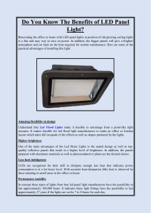 Do You Know The Benefits of LED Panel Light