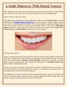 A Smile Makeover With Dental Veneers