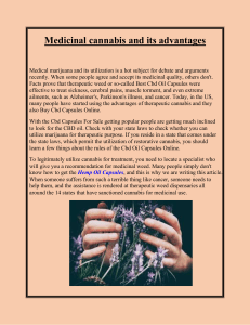 Medicinal cannabis and its advantages